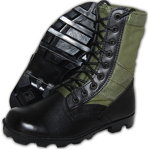 Warrior Men's Leather 8 inch Green Jungle Boot