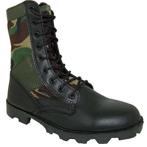 Soldier Men's Leather 8 inch Combat Camouflage Boot