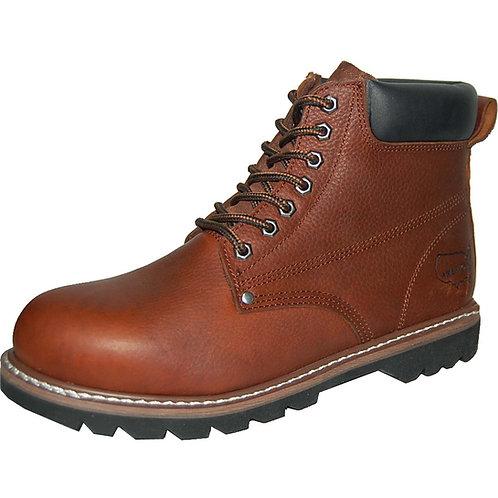 Pollack Men's Soft Toe Best Stitching Genuine Leather Brown Workboot