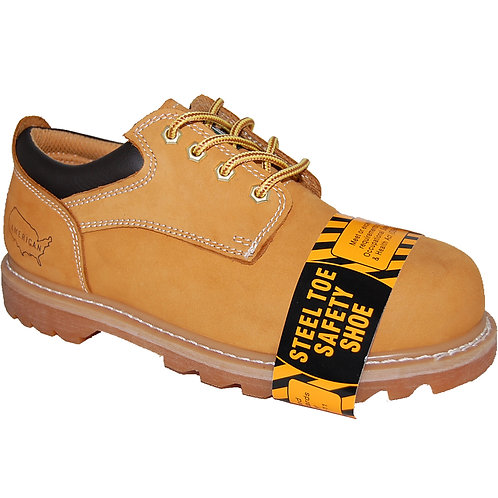 Shorty's Men's 4 inch Leather Low-cut Steel Toe Oxford Rugged Shoe