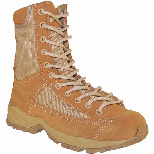 Men's 8 inch Light Tan Suede Leather & Nylon Chunky Sole Lace Up J