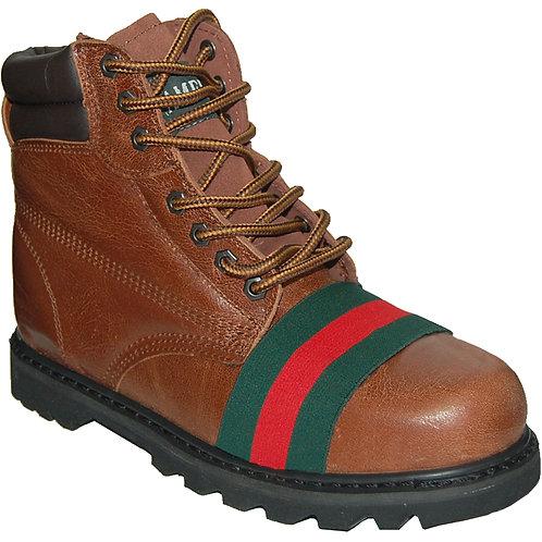 Tarzan Men's Soft Toe Workboot Red-Green Ornament
