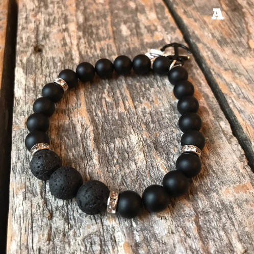 tigers gemstone black bracelets gemstones eye beaded shop sterling bracelet double cross crossoxtg callvogue dgems onyx silver bead