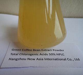 green coffee bean extract chlorogenic acid water soluble