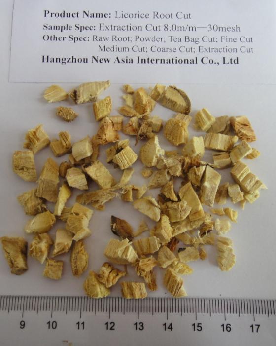 LicoriceRoot Tea Bag Cut extraction cut ex