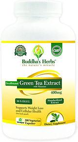 Buddha's Herbs Decaffeinated Green Tea E