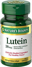Nature's Bounty Lutein 20 mg 40 Softgels