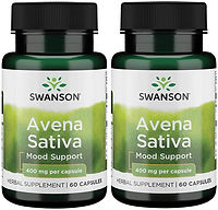 Swanson Full Spectrum Avena Sativa (Green Oat Grass) 400 mg 60 Caps 2 Pack.jpg
