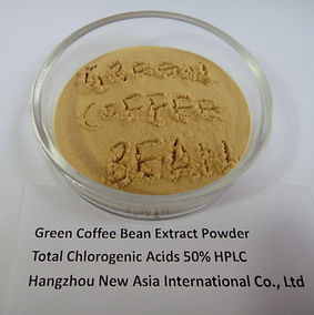 green coffee bean extract chlorogenic acid in plate