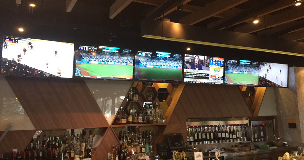 Video Wall in Restaurant