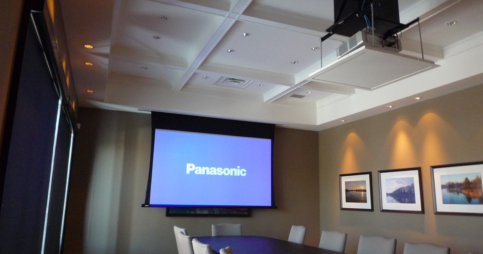Boardroom with Motorized Projector Mount, and Screen