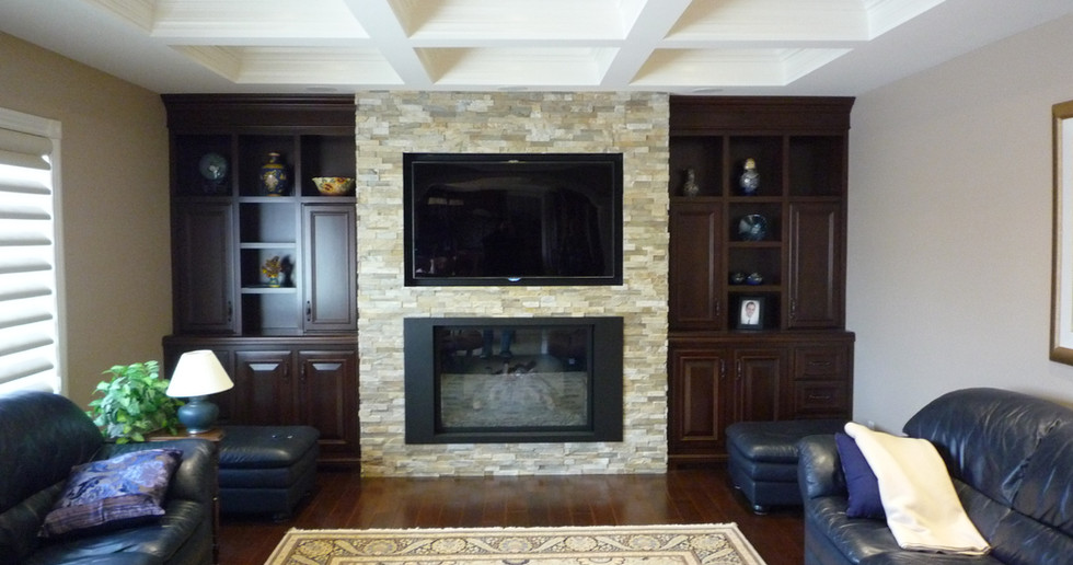 Recessed TV over Fireplace