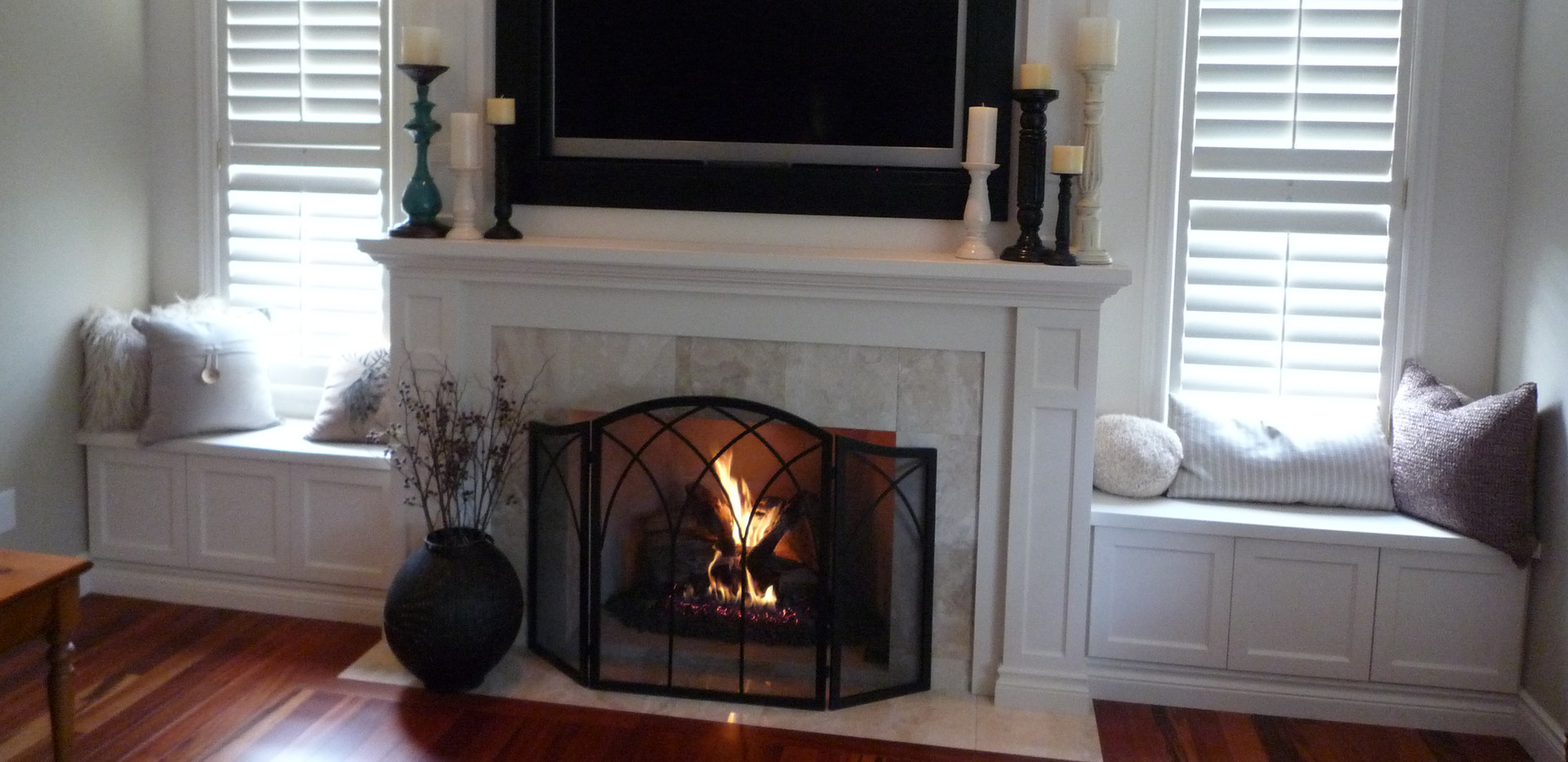 Over Fireplace Mounted TV