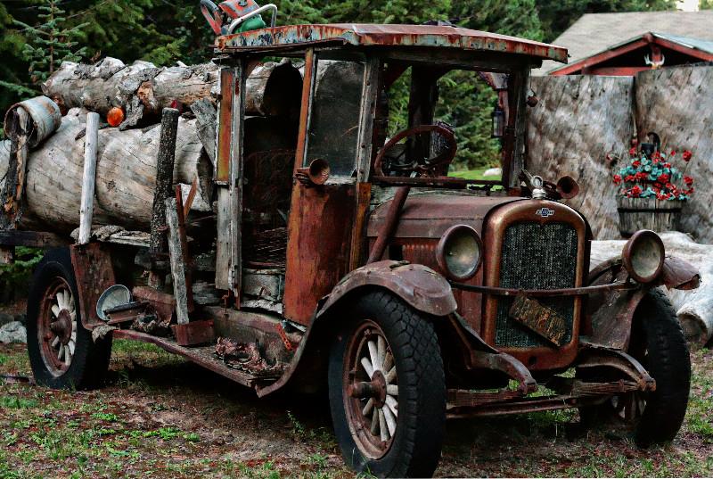 Old School Log Truck