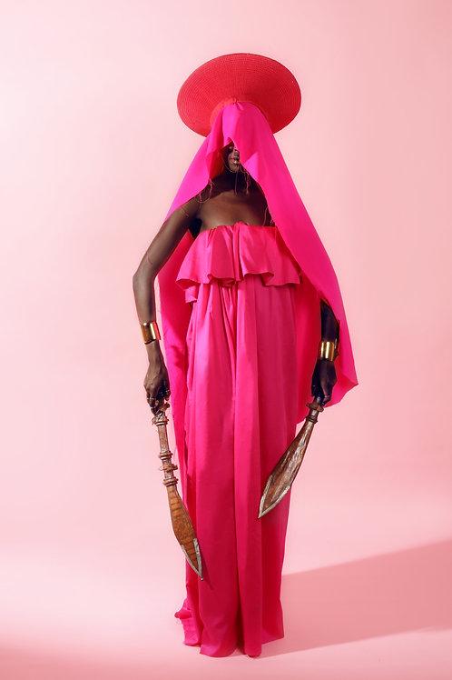 JENNIFER DRESS (Fuchsia Pink)