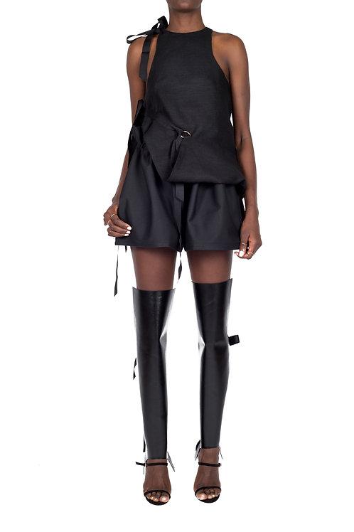 VIM PAPERBAG SHORTS (Black)