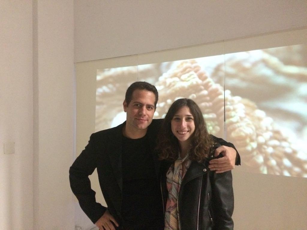 Snehta director artist A.Veinoglou and curator Eleni Riga
