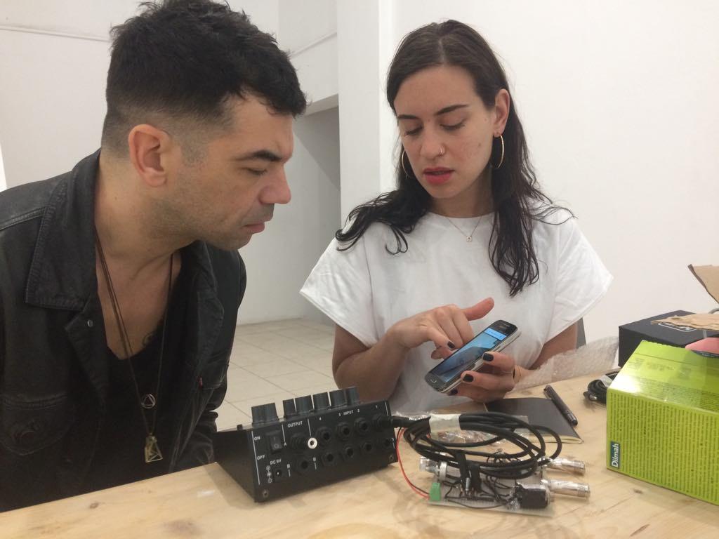 artist Antonakis (left) with artist Dimitra Kousteridou