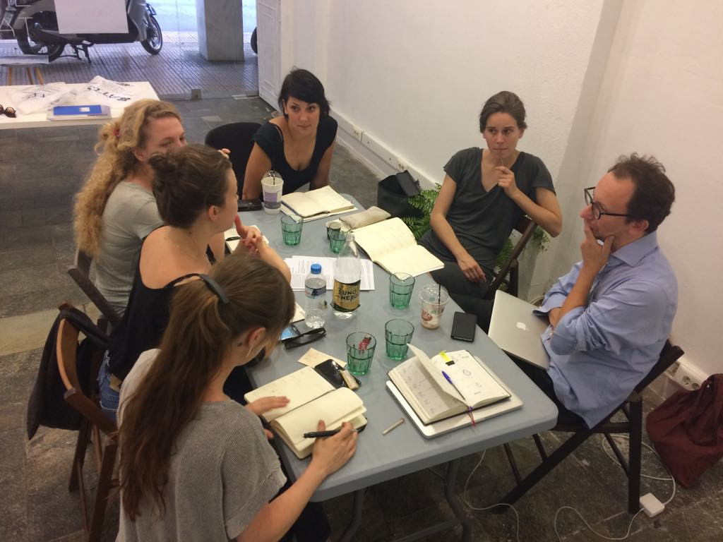 Austrian Artists in Athens residency discussion