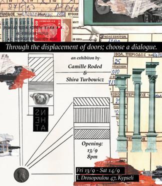 Through the displacement of doors; choose a dialogue