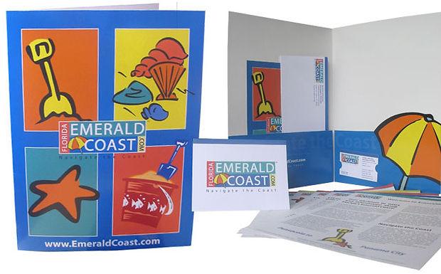 Corporate identity design, sales kit, graphic design, marketing, full color printing