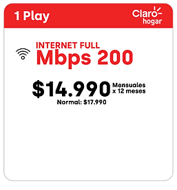 PACK 1 PLAY CLAROHOGAR 200MBPS_1 play_1p