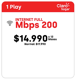 PACK 1 PLAY CLAROHOGAR 200MBPS_1 play 50