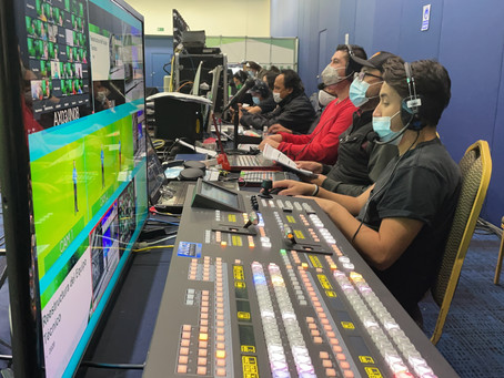 Beyond Virtual Meetings: A Mega-Broadcast Event for HDI