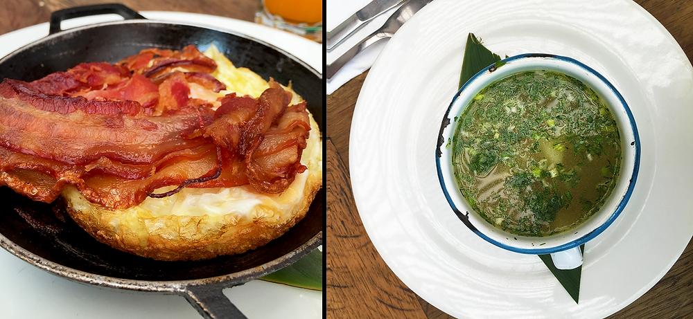 Desayuno y Brunch en Usaquén: caldo y huevos