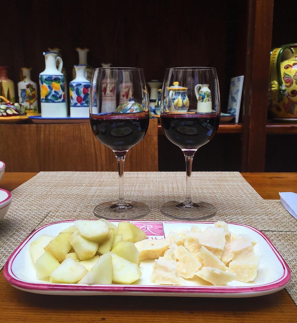Vinos y comida italiana