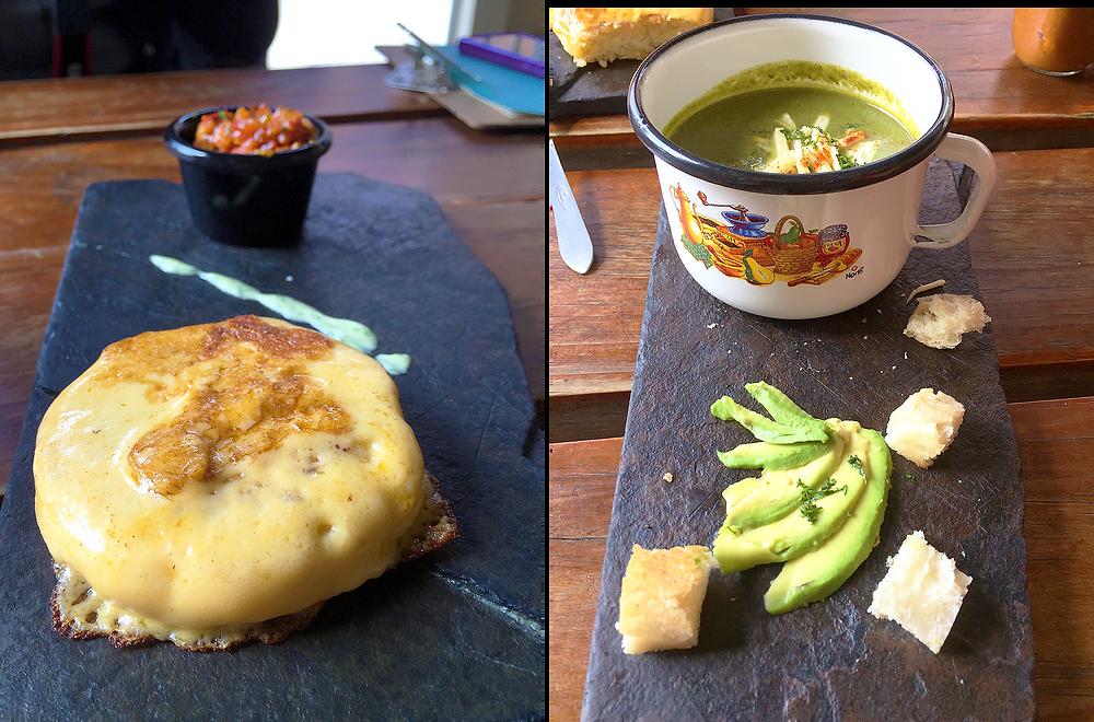 Arepa en El Cebollero, Bogotá