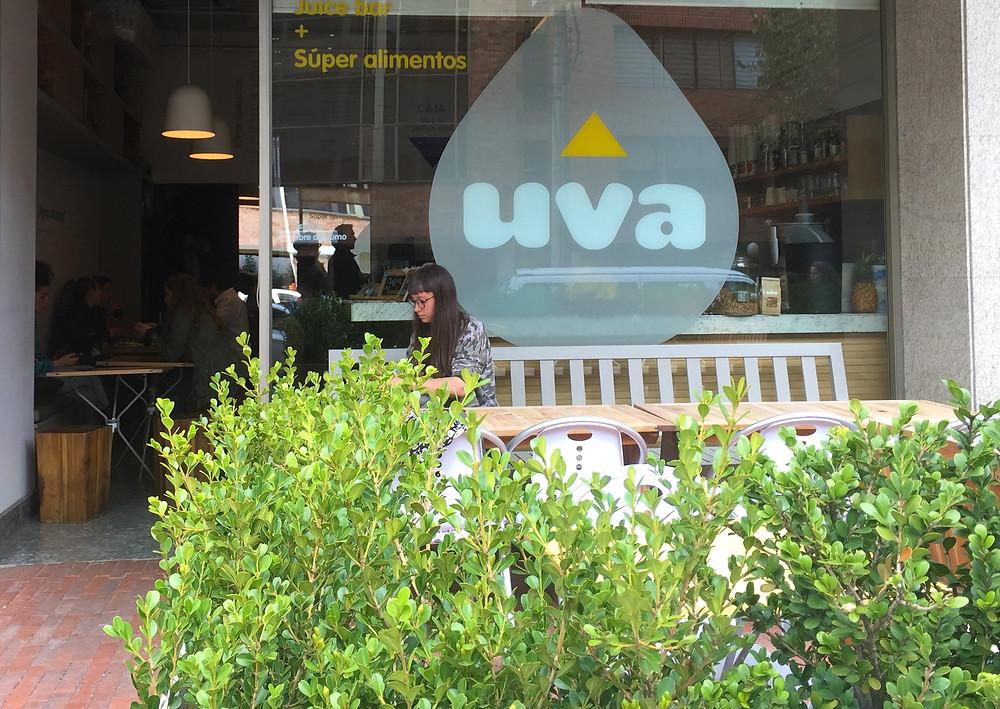 Uva, restaurante saludable