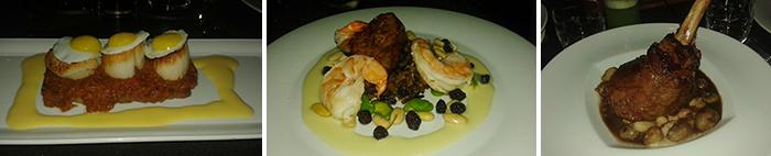 platos de Criterión, restaurante de los hermanos Rausch, en Bogotá