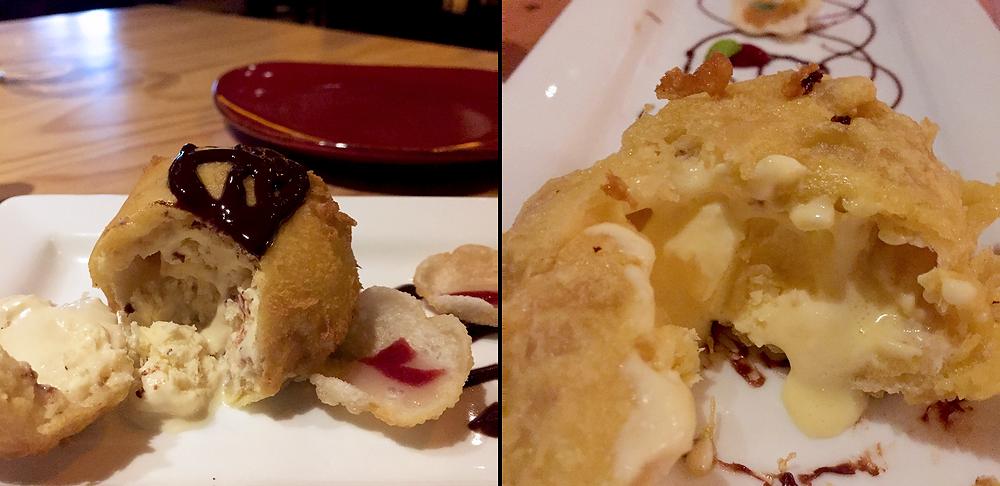 Helado Frito, parte de la cocina fusión de Toshiro