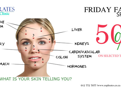 The last instalment of Friday Facial Specials- 50% discount.