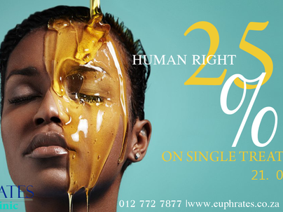 Human Right 25 percent off on single treatments - Wednesday
