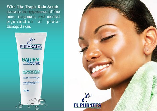 Euphrates Cosmetics natural product Tropic Rain Scrub