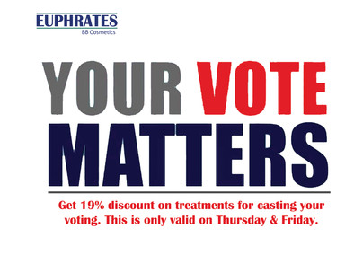 Cast your VOTE and get 19% discount on treatments