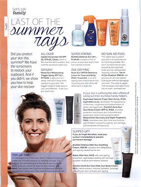 Euphrates Cosmetics on Your Family Magazine. Tropic Rain Scrub