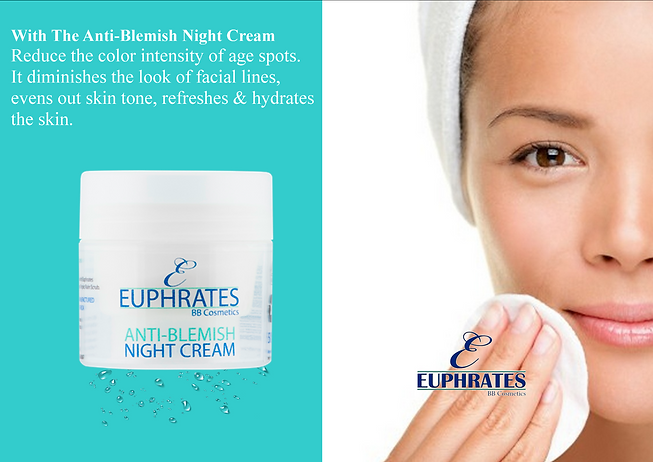Euphrates natural skin care range Anti-blemish Night Cream
