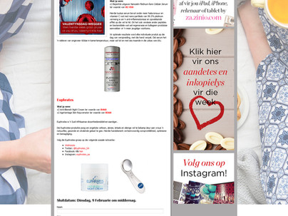 Valentines beauty competition with Rooi Rose Magazine and Euphrates.