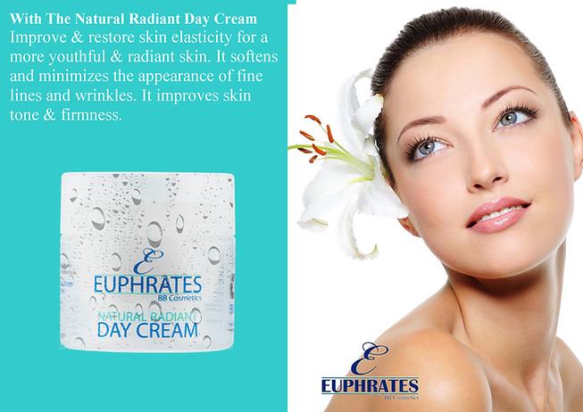 Euphrates natural skin care range Radiant Day Cream