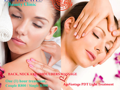 Valentine's Special Offer - Back, Neck and Shoulder Massage & AgeVantage Light Therapy