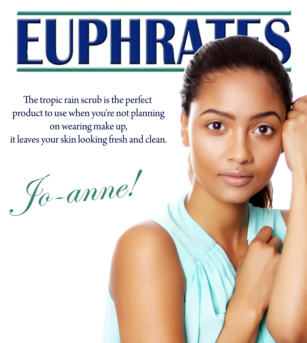 Euphrates Cosmetics. Tropic Rain Scrub. Natural skincare.  Jo-anne Reyneke