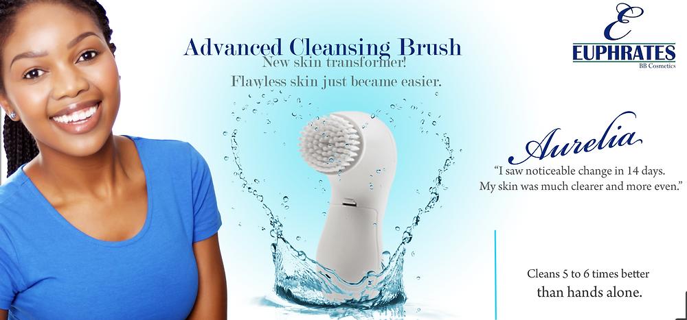 Euphrates Cosmetics. Euphrates natural skincare. Advanced Cleansing Brush. interview with Aurelia Nxumalo