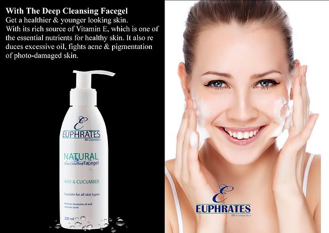 Euphrates natural skin care Deep Cleansing Facegel
