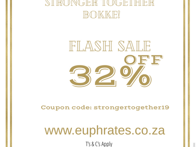 32% OFF  FLASH SALE - 24HRS #STRONGERTOGETHER19