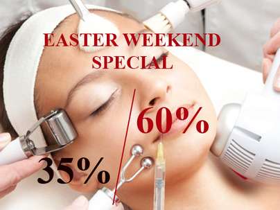 Easter Weekend Special - 35% to 60% DISCOUNT.