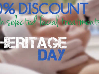 Heritage Day - 50% on Facial Treatments