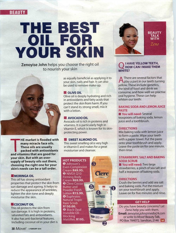 Euphrates Cosmetics. Natural skin care. Move Magazine. Tropic Rain Scrub.